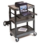 "Presentation Station w/ Shelf & Laptop Tray - 33-1/2""H"