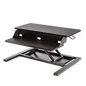 Luxor Level Up 32 Pro Sit-Stand Desktop Workstation - Black