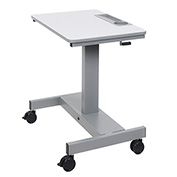 """Luxor Adjustable Height Student Sit-Stand Desk - Crank Handle - 26"""" to 31.8""""H - Gray"""