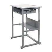 Luxor Student Sit-Stand Desk - Manual Height Adjustment - Gray