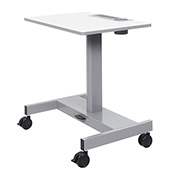 """Luxor Mobile Student Sit-Stand Desk - Pneumatic Height Adjustment - 26"""" to 32.3""""H - Gray"""