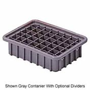 "LEWISBins Divider Box  DC1035 10-13/16"" x 8-5/16"" x 3-1/2"", Red - Pkg Qty 16"