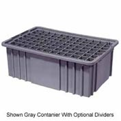 "LEWISBins Divider Box NDC2060 16-1/2"" x 10-7/8"" x 6"", Light Blue - Pkg Qty 8"