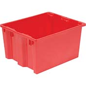 "LEWISBins SN2618-10 Polyethylene Container 26""L x 18-3/4""W x 10""H, Red - Pkg Qty 10"