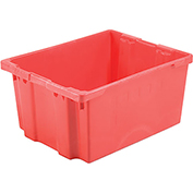 "LEWISBins SN3024-15 Polyethylene Container 30""L x 24""W x 15""H, Red"
