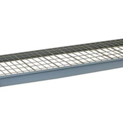 """Wire Decking Panel For Bulk Storage Rack, 24""""Wx30""""D, 1100# Capacity, Gray"""