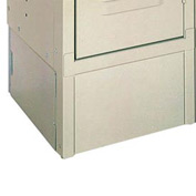 "Lyon Closed End Locker Base DD5803 - 12""Dx6""H - 2-Pack - Gray"