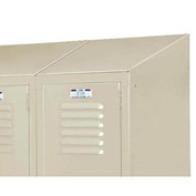 "Lyon Slope Top Kit DD5835 For Lyon Lockers - Three-Wide - 18""Wx18""D - Gray"
