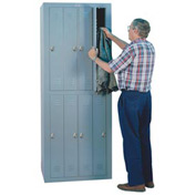 Lyon Apparel Locker DD6308WC - 8 Person w/ Combination Locks - Gray