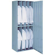 Lyon 8 Hanging Garment Widebody Locker w/ Key Lock DD6408W - Gray