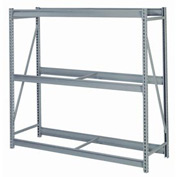 "Bulk Storage Rack Starter, 3 Tier, Without Decking, 60""W x 36""D x 60""H Gray"