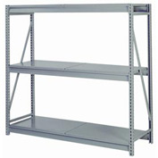 "Bulk Storage Rack Starter, 3 Tier, Solid Decking, 84""W x 36""D x 72""H Gray"
