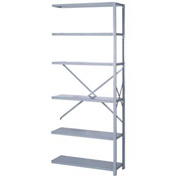 "Lyon Steel Shelving 18 Gauge 36""W x 12""D x 84""H Open Style 6 Shelves Gy Add-On"