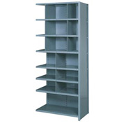 "Lyon Shelving Add-On DD8060H - 16 Compartment 8 Heavy-Duty Shelves, 36""Wx12""Dx84""H Gray"