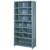 "Lyon Shelving Starter DD8061S - 16 Compartment 8 Traditional Shelves, 36""Wx18""Dx84""H Gray"