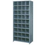 "Lyon Shelving Starter DD8100S - 36 Compartment 10 Traditional Shelves, 36""Wx12""Dx84""H Gray"