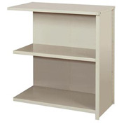"""Lyon Steel Shelving 36""""W x 24""""D x 39""""H Closed Counter Style 3 Shelves Gy Add-On"""