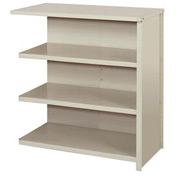 """Lyon Steel Shelving 36""""W x 18""""D x 39""""H Closed Counter Style 4 Shelves Gy Add-On"""