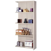 "Lyon Steel Shelving 20 Gauge 42""W x 24""D x 84""H Closed Style 5 Shelves Gy Add-On"