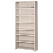 "Lyon Steel Shelving 18 Gauge 48""W x 12""D x 84""H Closed Style 8 Shelves Gy Add-On"