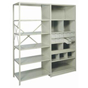 "Swinging Doors For Shelving, 36""Wx84""H - For T-Post Gray"