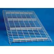 "Wire Decking Panel For Pallet Rack, 44""Wx42""D, 2500# Capacity, Gray"