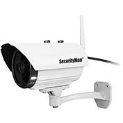 DIY Wireless Outdoor iSecurity Camera with Built-in 8GB Memory, White IPCAM-SDII