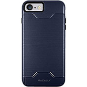 Macally Dual Layer Protective Case with Kickstand for iPhone 7 Plus, Navy Blue