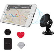 Macally Magnetic Car Dashboard Phone Mount Holder, Black