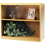 Mayline® Aberdeen Series 2 Shelf Bookcase with 1 Fixed Shelf Maple