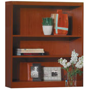 Mayline® Aberdeen Series 3 Shelf Quarter Round with 1 Fixed Shelf Cherry