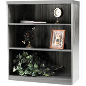 Mayline® Aberdeen Series 3 Shelf Bookcase with 1 Fixed Shelf Gray Steel