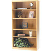 Mayline® Aberdeen Series 5 Shelf Bookcase with 1 Fixed Shelf Maple