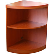 "Mayline® Aberdeen Series 18""W 2 Shelf Quarter Round with 1 Fixed Shelf Cherry"