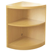 Mayline® Aberdeen Series 2 Shelf Quarter Round with 1 Fixed Shelf Maple