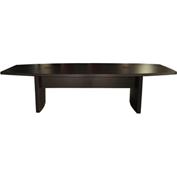 Mayline® 10' Boat-Shaped Conference Table Mocha - Aberdeen Series