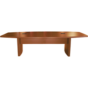 Mayline® 12' Boat-Shaped Conference Table Cherry - Aberdeen Series