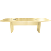 Mayline® Aberdeen Series 12' Boat-Shaped Conference Table Maple