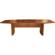 Mayline® Aberdeen Series 8' Boat-Shaped Conference Table Cherry