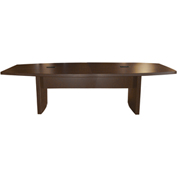 Mayline® Aberdeen Series 8' Boat-Shaped Conference Table Mocha