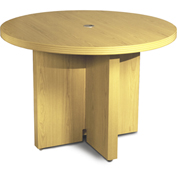 "Mayline® 42"" Round Conference Table Maple - Aberdeen Series"