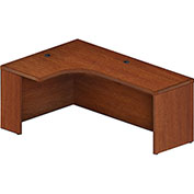 "Mayline® Aberdeen 72""W Left Extended Corner Table 72""W x 48""D x 24""H Cherry"