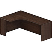 "Mayline® Aberdeen 72""W Left Extended Corner Table 72""W x 48""D x 24""H Mocha"