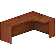 "Mayline® Aberdeen 72""W Right Extended Corner Table 72""W x 48""D x 24""H Cherry"