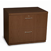 "Mayline® Aberdeen Series 36"" Freestanding Lateral File Mocha"