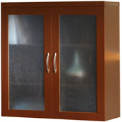 Mayline® Aberdeen Series Glass Display Cabinet Cherry