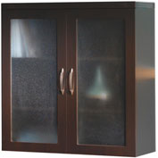 Mayline® Aberdeen Series Glass Display Cabinet Mocha