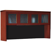 "Mayline® Aberdeen 72""W Hutch with Glass Doors 72""W x 15""D x 39-1/8""H Cherry"