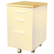 Mayline® Aberdeen Series Pedestal Mobile Kit for APBF20 Suspended Credenzas Maple