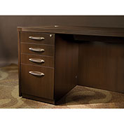"Mayline® Aberdeen Mobile PBBF Pedestal Kit for Desk 15-1/4""W x 26 1/2""D x 27-1/2""H Mocha"